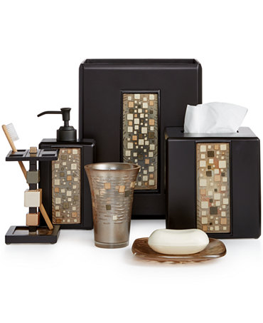 1review for Gold mosaic bathroom accessories