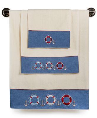 Avanti Bath, Life Preservers Hand Towel