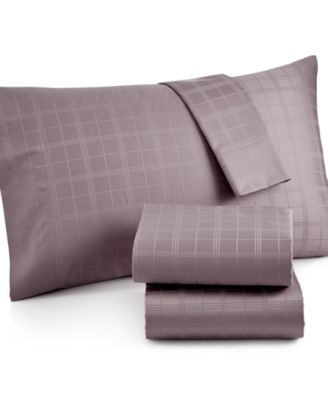 CLOSEOUT! Charter Club Damask Windowpane 500 Thread Count Pima Cotton Queen Sheet Set, Only at Macy's