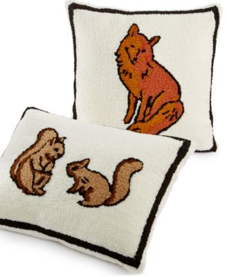 CLOSEOUT! Martha Stewart Collection Creatures Fox Decorative Pillow, Only at Macy's