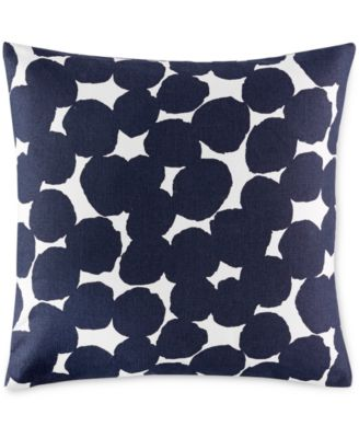 "kate spade new york Navy Random Dot 18"" Square Decorative Pillow"