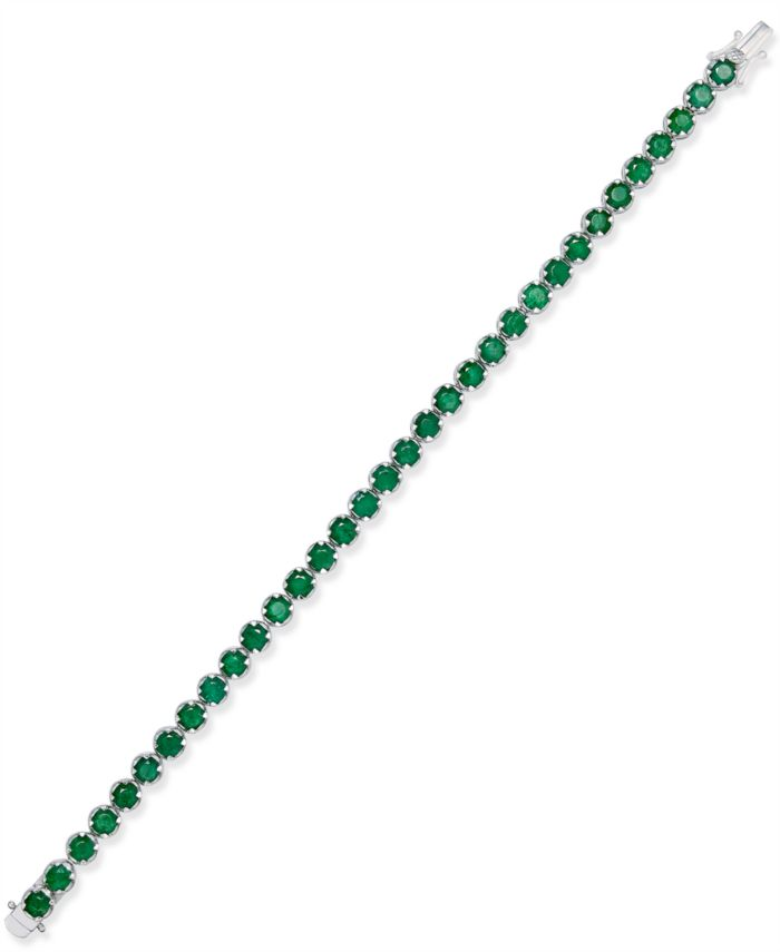 Macy's Sapphire Tennis Bracelet (10 ct. t.w.) in Sterling Silver, Created for (Also Available in Emerald) & Reviews - Bracelets - Jewelry & Watches - Macy's