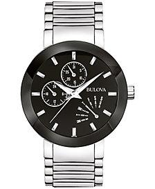 Bulova Men's Futuro Stainless Steel Strap Watch 40mm 96C105