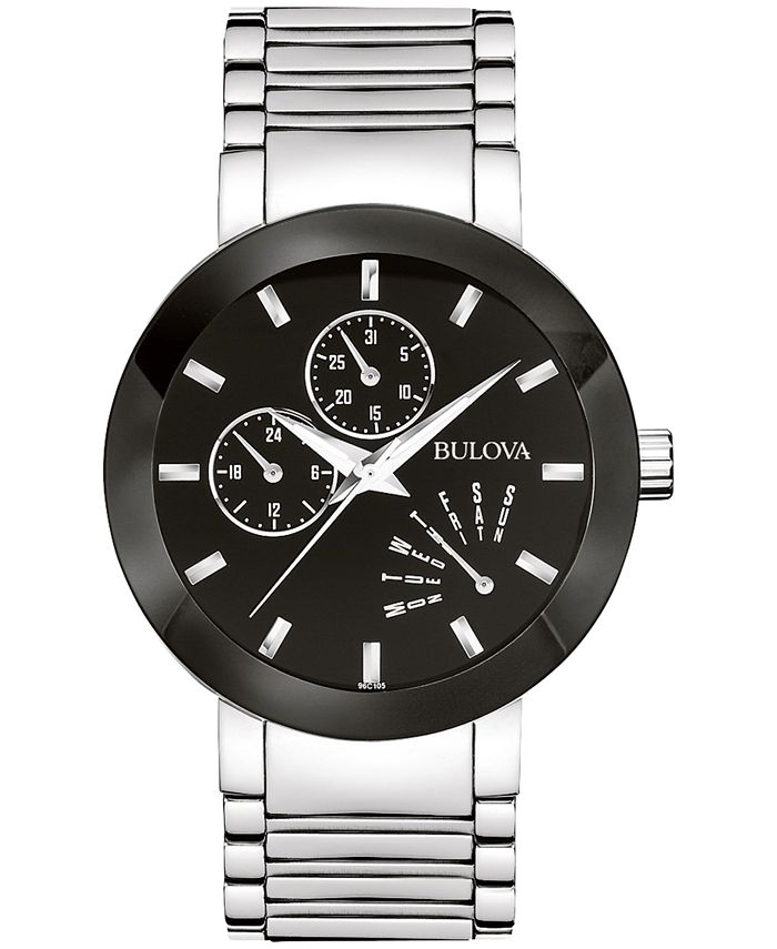 Bulova - Men's Stainless Steel Strap Watch 40mm 96C105