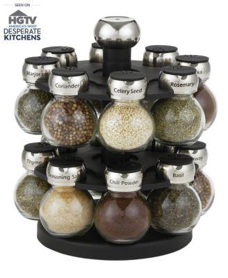 Martha Stewart Collection 17-Piece Orbital Spice Rack Set