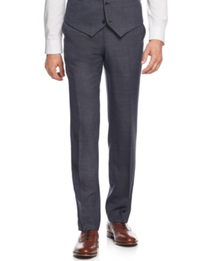 Bar Iii Navy and Charcoal Texture Slim-Fit Pants Only at Macys $69.99 AT vintagedancer.com