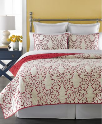 CLOSEOUT! Martha Stewart Collection Chateau Red Full/Queen Quilt