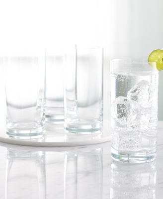 "CLOSEOUT! Martha Stewart Collection ""Waterman"" Highball Glasses, Set of 4"