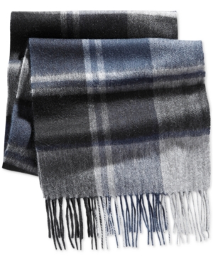 Club Room Offset Cashmere Scarf, Only at Macy's