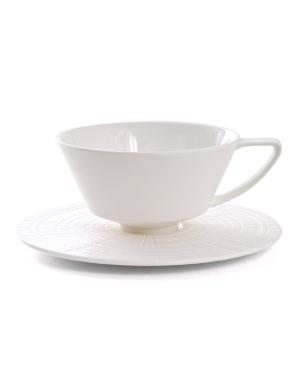 """Calvin Klein Home """"Mollusk"""" Cup & Saucer"""