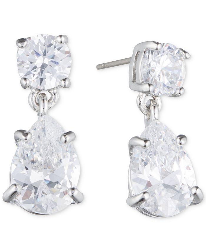 Givenchy - Silver-Tone Crystal Pear-Shape Earrings