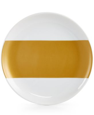 The Cellar Gold-Tone Serveware Collection Porcelain Gold-Tone Appetizer Plate, Only at Macy's