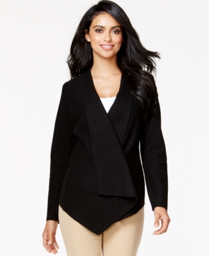 Alfani Draped Wool Wrap Jacket, Only at Macy's