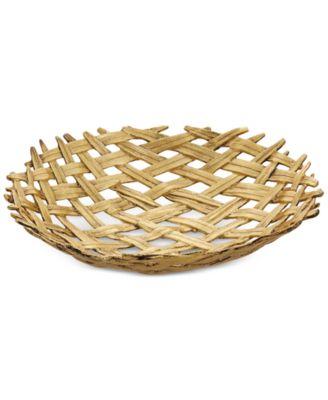 Antique Palm Centerpiece Bowl