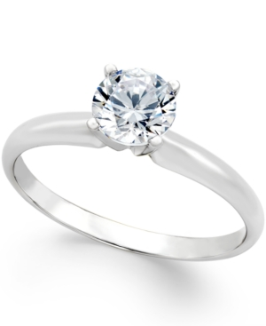 Diamond Engagement Ring (3/4 ct. t.w.) in 18k White Gold