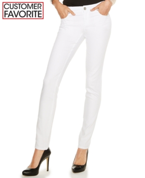 Inc International Concepts Curvy-Fit White Wash Skinny Jeans, Only at Macy's