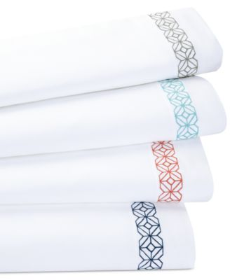 Trina Turk Trellis Block Embroidered Twin Sheet Set