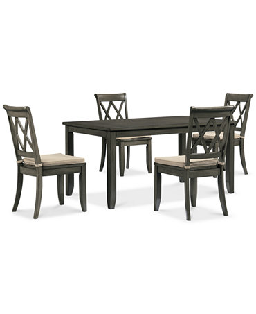 Piece Dining Set Dining Table And 4 Chairs Furniture Macy 39 S