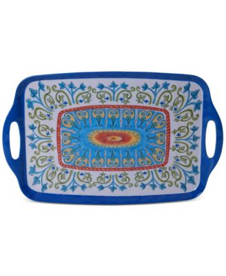 Certified International Melamine Tuscany Rectangular Handled Tray