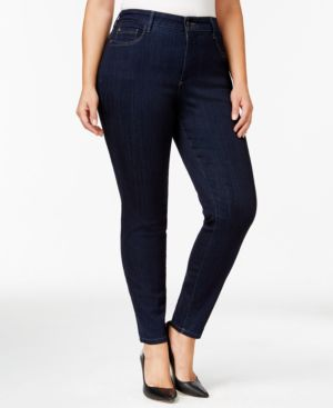 Nydj Plus Size Ami High-Rise Skinny Jeans, Blue Wash
