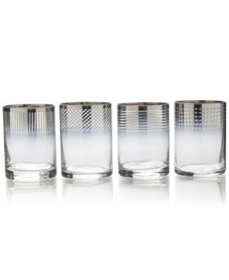 Mikasa Cheers Collection Metallic Ombr® Double Old-Fashioned Glasses, Set Of 4