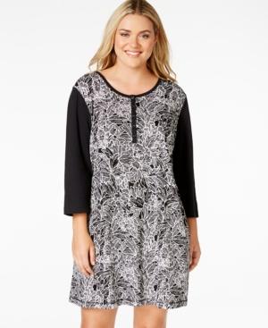 Nautica Plus Size Floral Sleepshirt