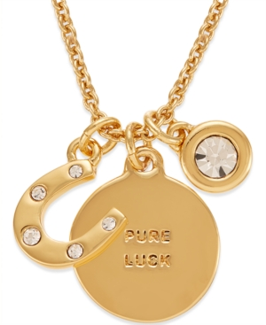 kate spade new york 12k Gold-Plated Horseshoe Charm Pendant Necklace