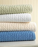 Martha Stewart Collection Jacquard Dot Bath Towels