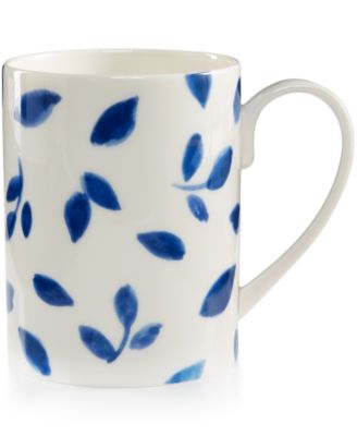 Martha Stewart Collection Porcelain Stockholm White Mug, Only at Macy's