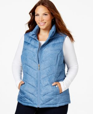 Charter Club Plus Size Quilted Vest, Only at Macy's