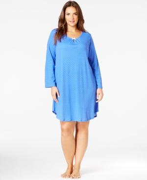 Karen Neuburger Plus Size Long Sleeve Pullover Sleepshirt