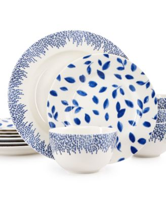 Martha Stewart Collection Stockholm Dinnerware Collection 12-Pc. Set, Service for 4, Only at Macy's