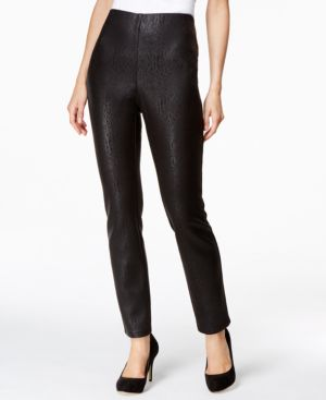 Style & Co. Snakeskin-Printed Stretch Scuba Leggings, Only at Macy's