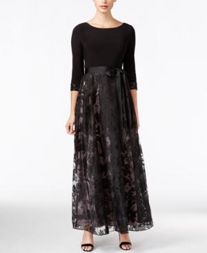 Patra Embellished Floral-Pattern Gown $189.00 AT vintagedancer.com
