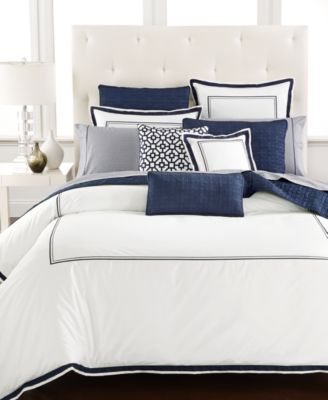 Hotel Collection Embroidered Frame Full/Queen Duvet Cover, Only at Macy's