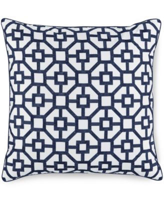 "Hotel Collection Embroidered Frame 18"" Square Decorative Pillow, Only at Macy's"
