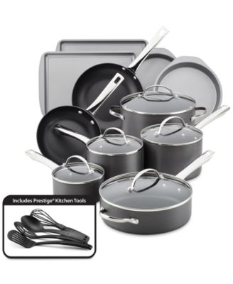 Farberware Hard Anodized Nonstick 20-Pc. Cookware Set
