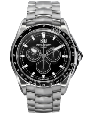Emporio Armani Men's Swiss Chronograph Sport Stainless Steel Bracelet Watch 44mm ARS9100