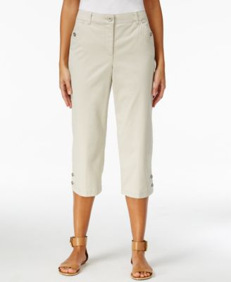 Image of Karen Scott Twill Cropped Pants, Only at Macy's
