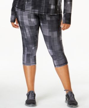 Ideology Plus Size Printed Cropped Active Leggings-and-Headband Set, Only at Macy's