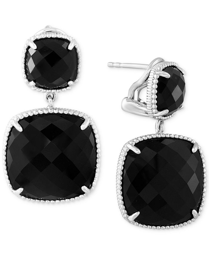 EFFY Collection - Onyx (17-2/5 ct. t.w.) Drop Earrings in Sterling Silver