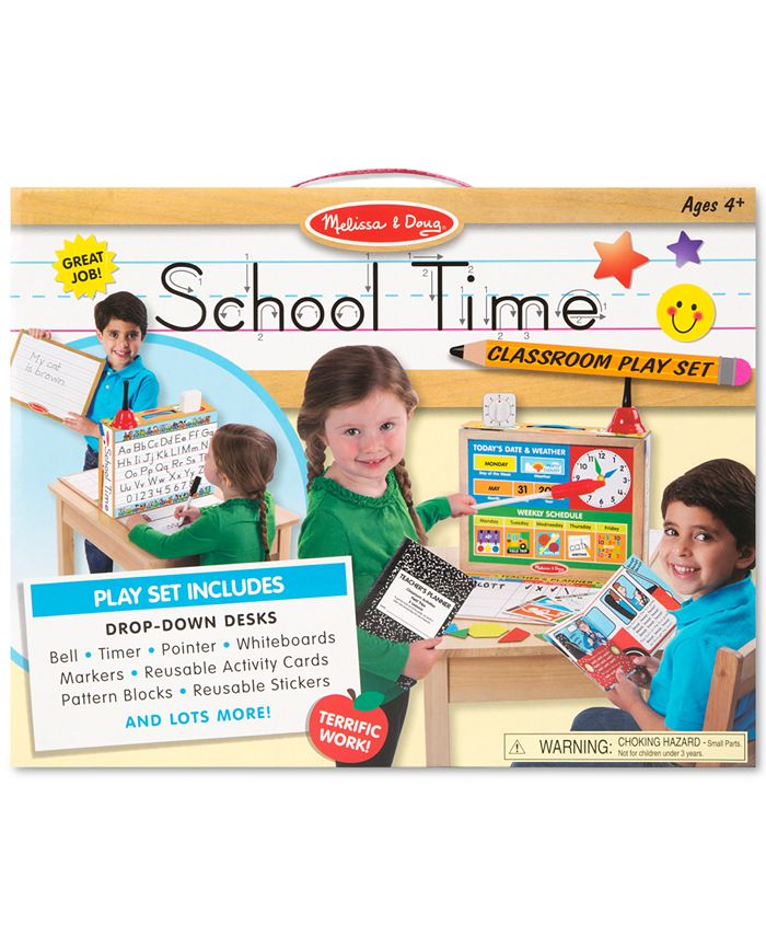 Melissa and Doug - Kids' School Time! Classroom Play Set