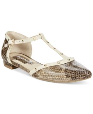 Rialto Alexia Studded T-Strap Flats Womens Shoes $34.82 AT vintagedancer.com