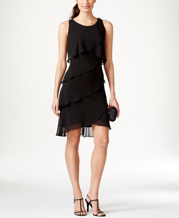 SL Fashions - Tiered Chiffon Dress