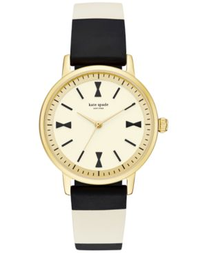kate spade new york Women's Crosby Black & White Silicone Strap Watch...