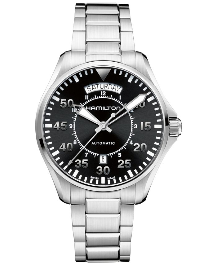 Hamilton - Men's Swiss Automatic Khaki Pilot Stainless Steel Bracelet Watch 42mm H64615135