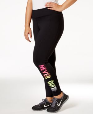 "Ideology Plus Size ""Never Quit"" Active Leggings"