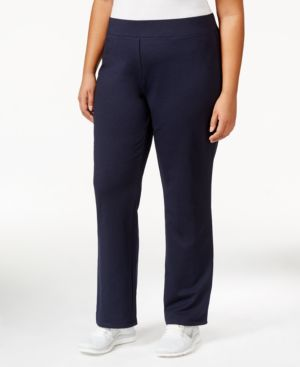 Charter Club Plus Size Straight-Leg Active Pants, Only at Macy's