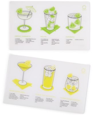 Martha Stewart Collection 2-Piece Printed Bar Mat Set, Only at Macy's