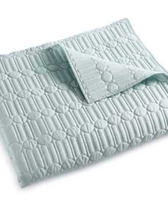 Hotel Collection Modern Interlace Full/Queen Coverlet, Only at Macy's